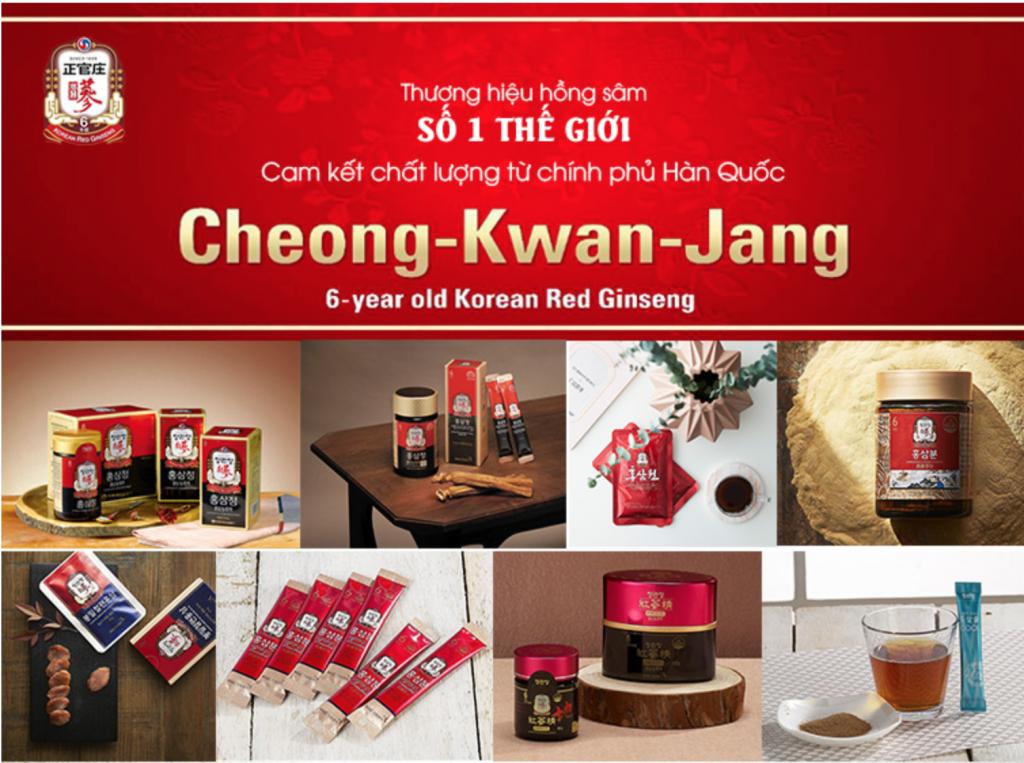 Sản phẩm cao cấp của Tập đoàn Nhân sâm Hàn Quốc (Korea Ginseng Corporation) KGC